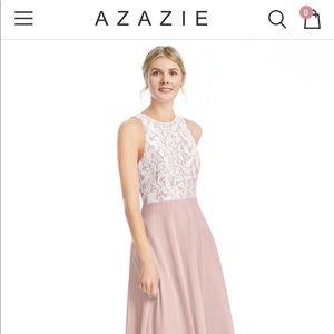 AZAZIE // floor-length dress - Dusty rose